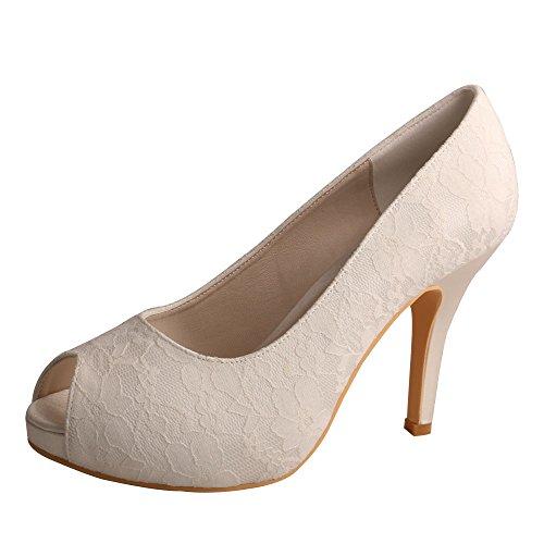 p Toes, weiß - elfenbeinfarben - Größe: 42 2/3 ()