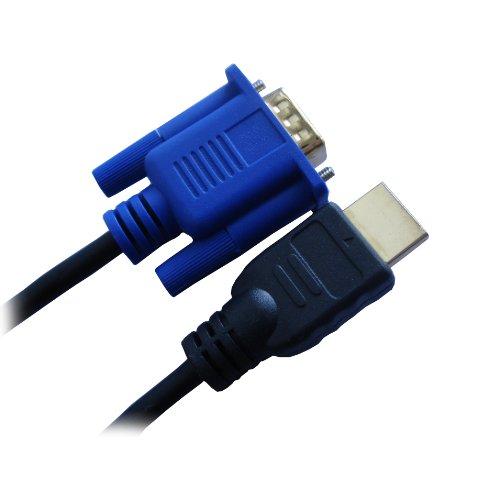 J17 HDMI auf VGA Kabel Adapter 1.3b DVD Player zu Fehrseher Monitor 1,8m, VGA-Stecker D-Sub HD15 männlich | HDMI-Stecker männlich, vergoldete Kontakte, Kabel überträgt Video Signale mit einer Auflösung bis zu 1024 x 768 Pixel, HDMI Version: 1.3b, Kabellänge: ca. 180cm, Farbe Schwarz - Hd15 Stecker-vga Stecker