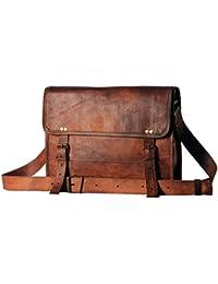 Handmadecart hombre Auth Real piel Bolsas de mensajero bolsa de ordenador portátil maletín bolso bandolera para hombre