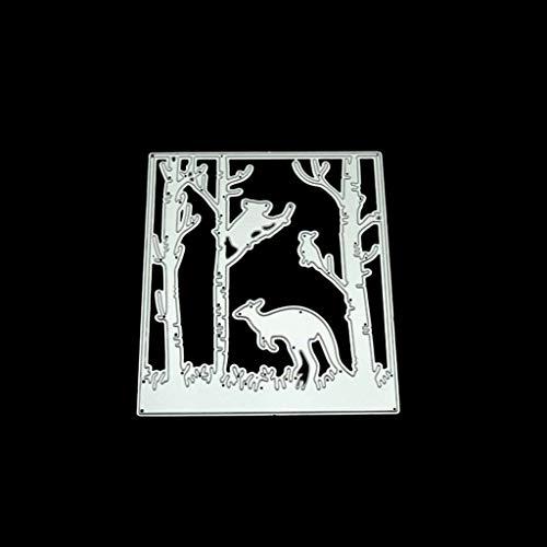 Hothap Känguru DIY Metall Stanzformen Schablone Scrapbooking Album Stempel Papier Karte Handwerk Dekor
