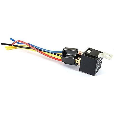 Kit Universal Car Auto Relay Fijo Volver 5 Pin Socket 5 alambre 20A / 30A