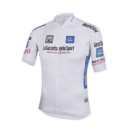 Santini - Maglia Giro D`Italia 2016, color blanco, talla S