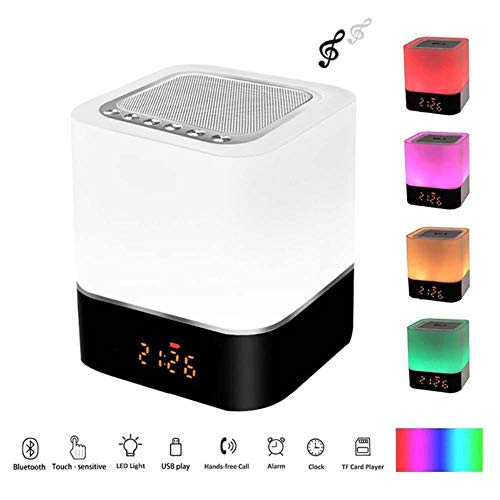 SHENGY Wecker Bluetooth-Lautsprecher, Wireless Night Clock Music Player, LED Digital elektronische Tischuhr Wake Up Light, für Kinder Schlafzimmer Geschenk - Mini Stereo Blackberry