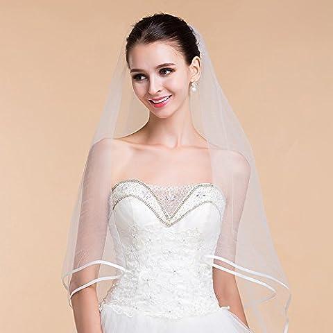 Accessori squisito Wedding Package bordo Pure Ivory White Sposa Velo