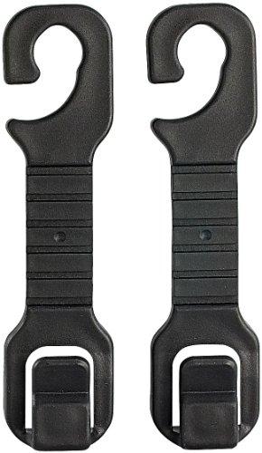 Preisvergleich Produktbild Lescars Kfz-Kleider- und Taschenhaken für die Kopfstützen,  2er-Set