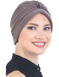 Turban élégant avec des détails de perles Perte de Cheveux, Cancer, Chimio