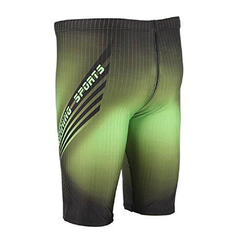 LJ&L Herren-Mode Schwimmer Badeanzüge, Schwimmer professionelle Schwimmen Hosen, Spleißen Farbe Badeanzug halb-feste Hosen A