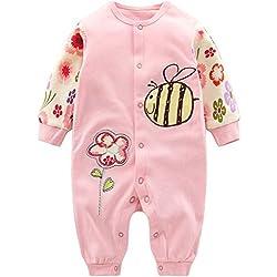 Bebés Pijama Algodón Mameluco Niñas Peleles Sleepsuit Caricatura Trajes, 3-6 Meses