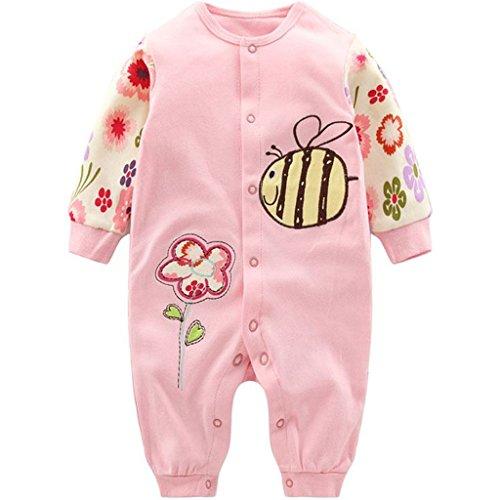 Baby Mädchen Strampler Spielanzug Schlafanzug Säugling Baumwolle Overalls Baby-Nachtwäsche, 6-9 Monate
