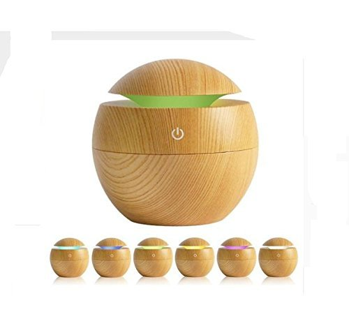 Modulyss New Mini Portable Wooden Humidifier Mist Maker Aroma Essential Oil Diffuser Ultrasonic Aroma Humidifier Light Wooden USB Diffuser For Home Office