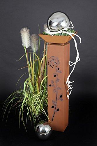 floristikvergleich.de Jabo Design Rost Säule + Schale RS41 + S01 Kostenloser Versand Blumensäule Rostsäulen Rost Deko