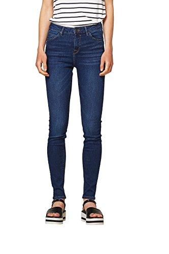 edc by ESPRIT Damen Skinny Jeans 998CC1B813, Blau (Blue Dark Wash 901), W34/L32