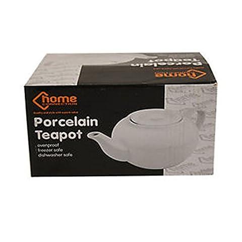 Ardisle Teekanne weiß Porzellan Tee Kaffeekanne klein weiß 2Tasse 0,5l Globe Keramik