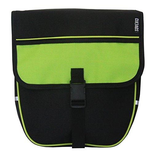 C-BAGS HEART single TREKKING Gepäckträger Fahrradtasche verschiedene Muster Green
