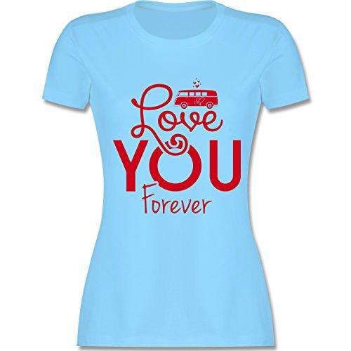 Statement Shirts - Love You Forever Bus T1 - tailliertes Premium T-Shirt  mit Rundhalsausschnitt