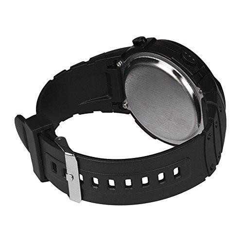 LSAltd Mode wasserdicht Herren Boy LCD Digital Stoppuhr Datum Gummi Sport Armbanduhr