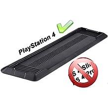 GAMINGER Soporte vertical para la consola Sony PlayStation 4 PS4 con ventilador refrigerante - diseño fuerte para PS4 - negro