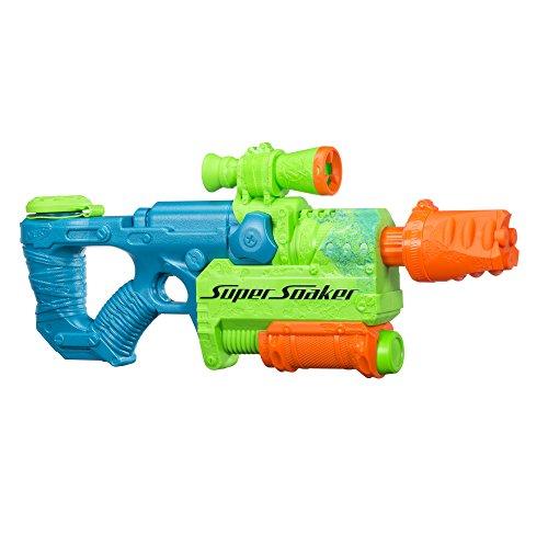 Nerf Zombinator 1.1L Pistola de Agua con depósito - Pistolas de Agua (1,1 L, Pistola de Agua con depósito, Integrado, 9,1 m, Azul, Verde, Naranja, 6 año(s))