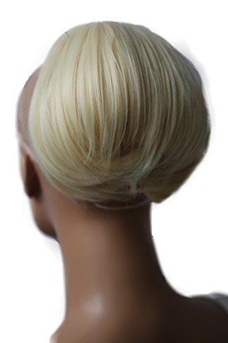 PRETTYSHOP Dutt Haarteil Zopf Haarknoten Hepburn-Dutt Haargummi Hochsteckfrisuren platin blond #88/613 HD16