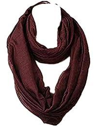 MRULIC Echarpes foulards femme Plaid Écharpe Femme, Hiver Écharpe   Tartan  Châle Grand Chaud Doux 0323a4e18d7