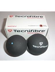 Tecnifibre azul pelotas de Squash - 2 bolas de