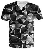 Idgreatim Teenager 3D Printed Tintenfisch T-Shirts Plus Größe