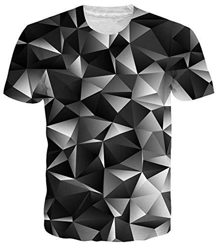Idgreatim Frauen Männer 3D Printed Tintenfisch T-Shirts