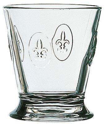 Stilvolles Whiskyglas Lilienwappen