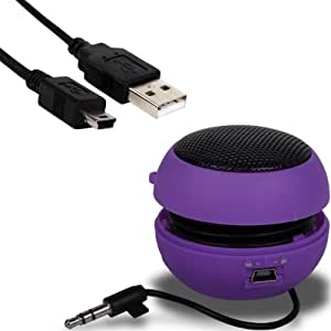 iGloo Perfect Sound Pop up Capsule Portable Speakers for the Samsung Galaxy S3 i9300 Mobile Phone - Purple