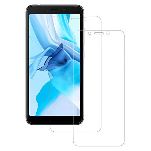 POOPHUNS Protector de Pantalla para Xiaomi Redmi 6 / Redmi 6A, Cristal Templado Xiaomi Redmi 6A 2-Unidades Cristal Vidrio Templado Premium 9H Vidrio Real No se despega uellas Dactilares Libre