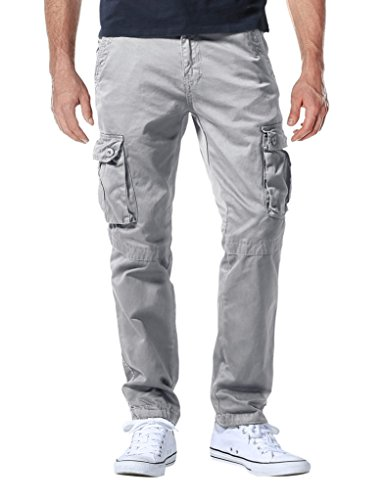 Match Herren Cargo hose #3357 6057 Silber grau