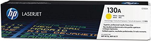 HP CF352A Original Toner (geeignet für HP Color Laserjet Pro M176n, HP Color Laserjet Pro M177fw) gelb (Hp Color Laserjet Black Toner)