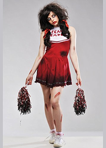 Magic Box Int. Womens Halloween Zombie Cheerleader Kostüm Small (UK 8-10)