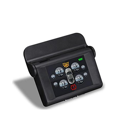 LPY-Inface Reifendruck-Überwachung Intelligentes System, Solar Powered TPMS mit 4 internen Sensoren, Diagnose Alarm-Funktion, Temperaturanzeige (?), LCD-Display