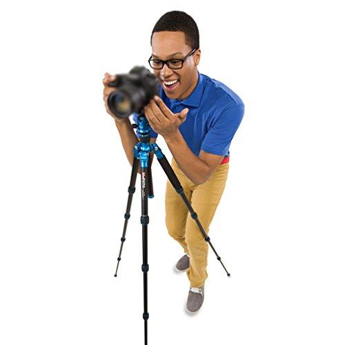 Ausziehbares Einbeinstativ-Leichtes Stativ-Aluminiumlegierungs-Kamera-Stativ Kann als Wanderstock im Freien benutzt Werden, Kann 8KG Gewicht widerstehen (Color : Blue, Size : High 134cm)