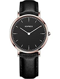 Kopeck ultrafino de las mujeres relojes de acero inoxidable oro rosa Simple all-match