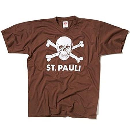 St. Pauli Herren Printshirt braun 3XL