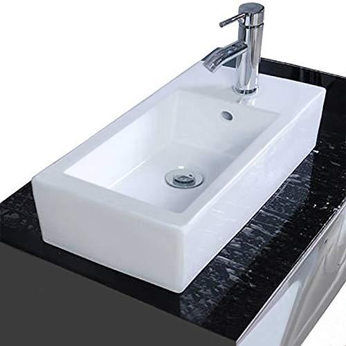 Waschbecken Hängewaschbecken Aufsatzwaschbecken Waschtisch Keramik rechteckig eckig weiß