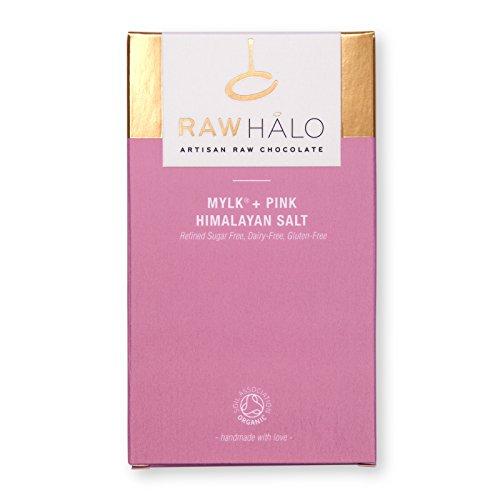 Raw Halo Mylk + Pink Himalayan Salt Raw Chocolate Bar, 35g