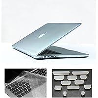 HYAIT 3in 1Ultra Sottile Cristallo Hard Case + tastiera copertura + Anti-Dust Plugs per 13MacBook Pro con display retina da 13,3pollici (A1425/A1502) nero 13.3