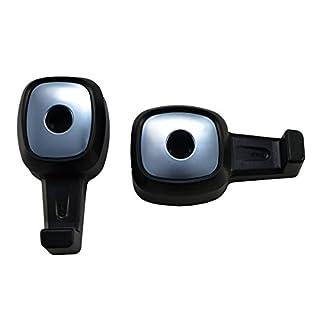 Lilware 2 x Universal Auto-Kopflehnen-Mini Hanger. Packung mit 2 Rücksitz Haken für Tasche/Gepäck/Bekleidung/Geldbörse/Handtasche. Multifunktionale Handliche und Leichte Auto Veranstalter. Schwarz