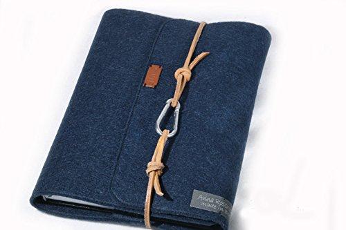 Personalisierte Buchhülle für Notizen, Kalender, A5, Filz