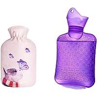 750ML Klassisch PVC Kalt oder Heiße Wasserflasche mit weichem Plüschbezug, 01 preisvergleich bei billige-tabletten.eu