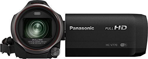 Panasonic HC-V770 Full HD - Videocámara (MOS BSI, Videocámara manual, 1/2 - 1/8000, 25,4 / 2,3 mm (1 / 2.3