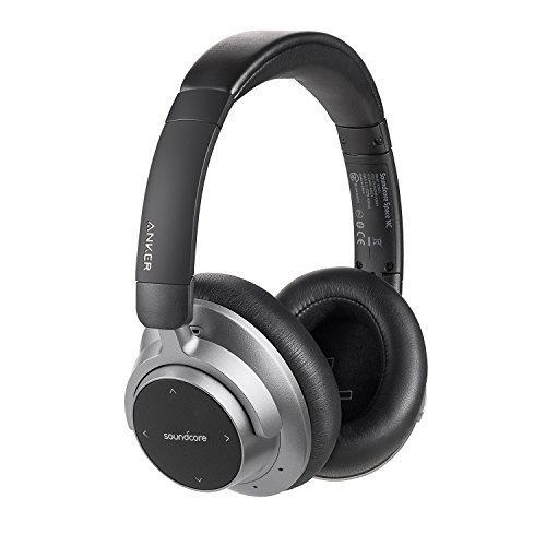 Soundcore Space NC Bluetooth Kopfhörer von Anker, Kabellose Kopfhörer mit Geräuschunterdrückung, Touch Control, 20 Stunden Akkulaufzeit, Federleichtes & Zusammenklappbares Design, für Reisen, Büro, Zuhause und viel mehr