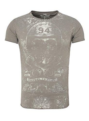 Key Largo Herren T-Shirt COMPANY Vintage Print Totenkopf Skull Gut kombinierbar sand M