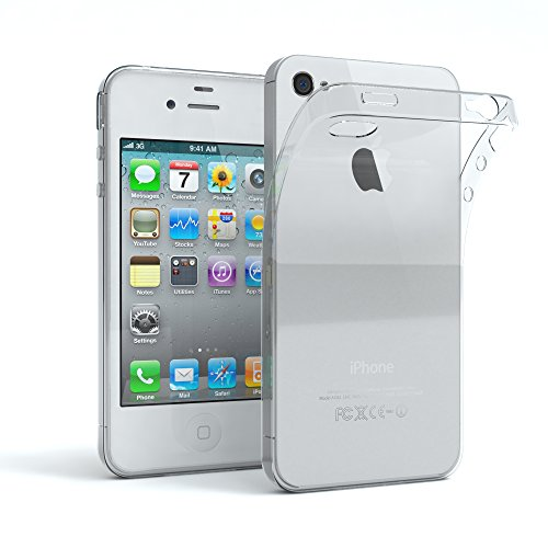 r Apple iPhone 4 / 4S Schutzhülle Silikon, Ultra dünn Slimcover, Handyhülle, Silikonhülle, Backcover, Transparent/Durchsichtig, Transparent ()