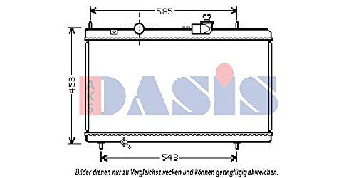 AKS Dasis 060058N Kühler, Motorkühlung