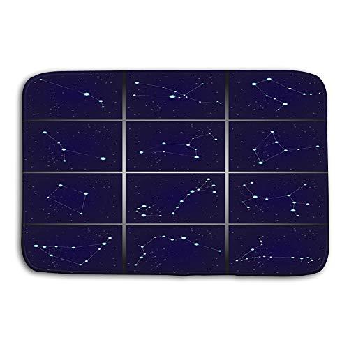 05435eacc7e49 zexuandiy Area Rug Carpet Non-Slip Floor Mat Doormats for Living Room  Bedroom 24 x 16 Inch Twelve Constellations