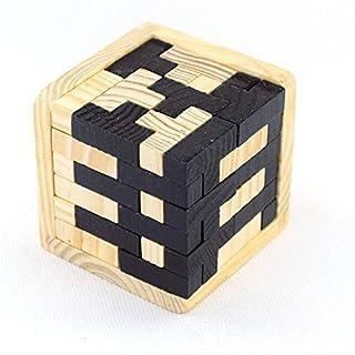 TourKing 3D Wooden Luban Lock Kongming Lock Jigsaw Puzzles Blocks Child Education Toys Gift